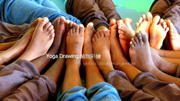 Being creative in Yoga Drawing.