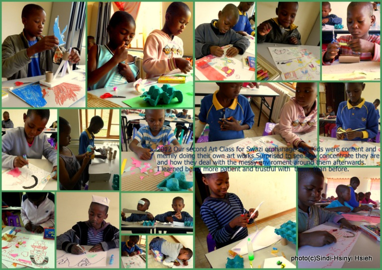 2012 ART CLASS at Amitofo Care Centre Swaziland(2)