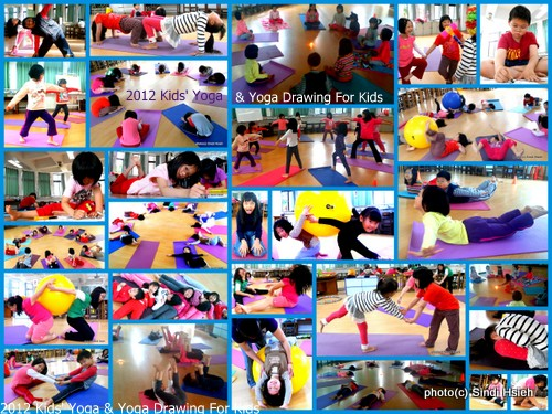 Yoga Drawing and Kids' Yoga in Taiwan