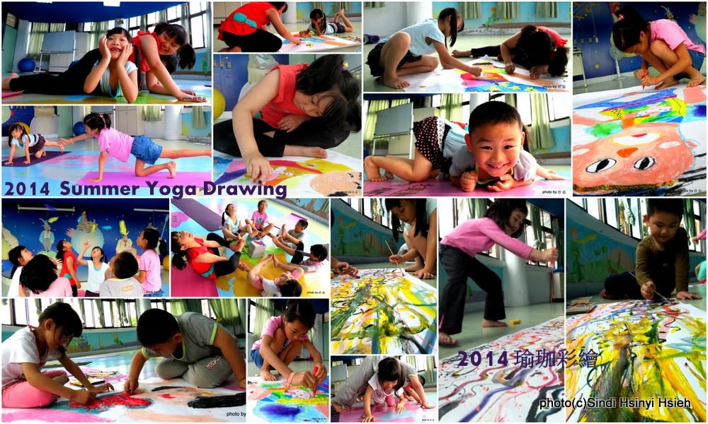 Yoga Drawing at school. Having fun in class. XD