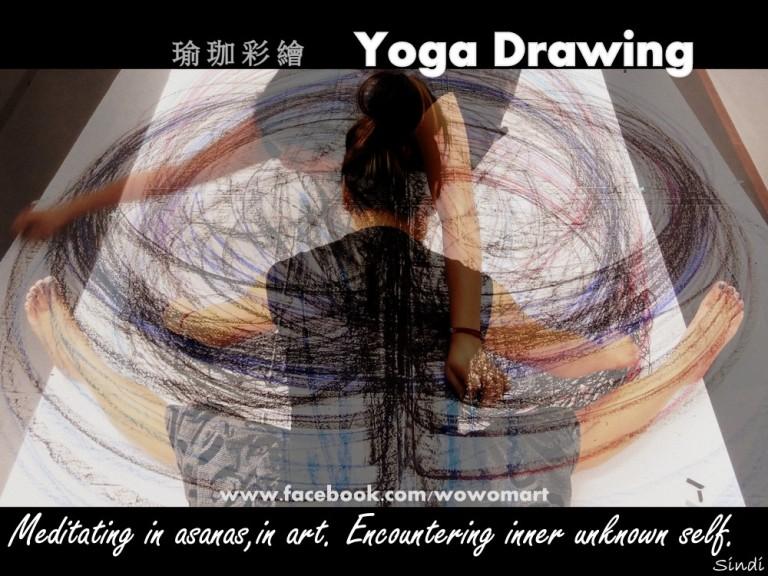 Meditative in asanas,in art.Encountering inner unknown self.